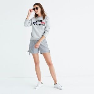 Madewell Striped Pull-on Side-Tie Shorts